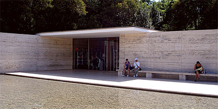 Mies van der Rohe's Pavilion in Barcelona. Photo by Fatlum.