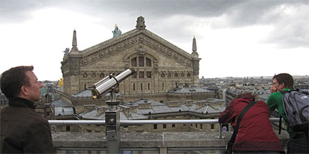 A view of the Opera Garnier from the roof. Photos by Theodora Brack.