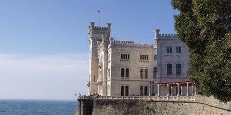Miramare Castle on the Adriatic coast north of Trieste. Photo © hidden europe.
