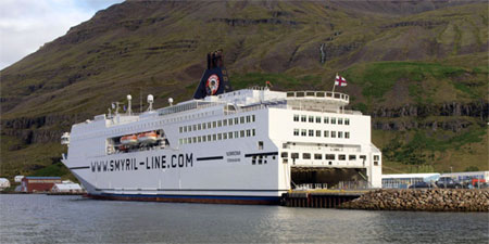 The Smyril Line ship Norröna, the sole passenger ferry serving the Faroe Islands. Photo © hidden europe.