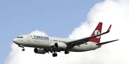A Turkish Airlines plane. Photo by wicho.