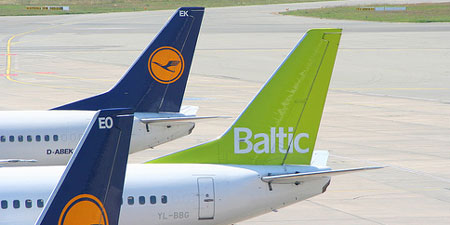 An Air Baltic plane