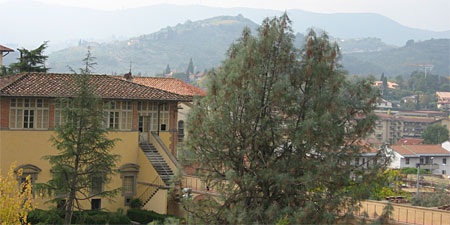 A view of Poggio a Caiano from the Medici Villa