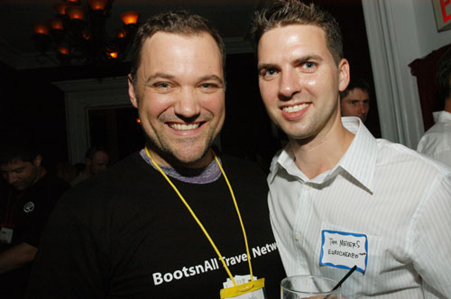 Sean Keener from BootsnAll and Tom Meyers from EuroCheapo