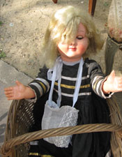 A doll at the Porte de Vanves Flea Market in Paris