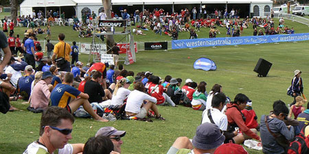 At WUCC 2006 in Perth