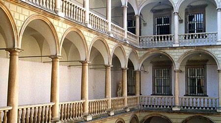Lviv, Ukraine. Italian Courtyard