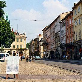 City square, Lviv, Ukraine
