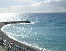 The beach at Bordighera, Italy