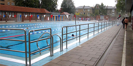 The pool at London Fields