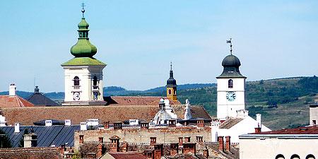 The city of Sibiu in Transylvania, Romania