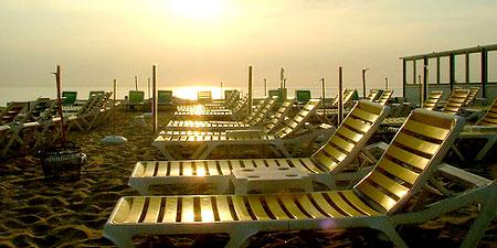 Zandvoort aan Zee beach in Amsterdam