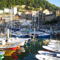 The harbor in San Sebastian