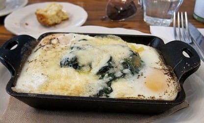 Baked eggs for brunch