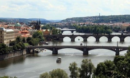 The view from Letna Park, Prague