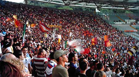 Crowd at the Stadio Olympico