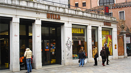Venice Billa supermarket
