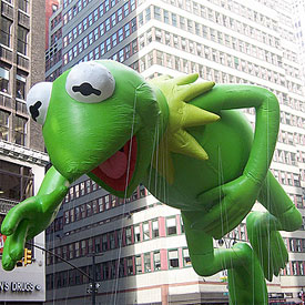 Kermit floats by