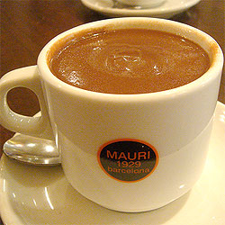 Barcelona hot chocolate Mauri