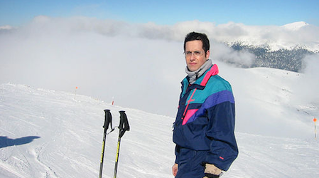 Skiing at Valdesqui, north of Madrid