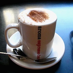 Hot Chocolate at Aroma