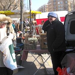 Catherine Porte de Vanves flea market