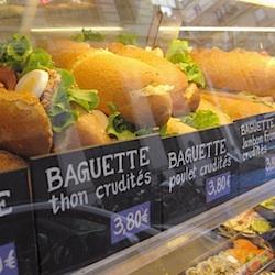 Baguette Thon Crudités Oeufs