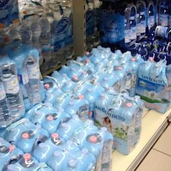 Water bottles Venice