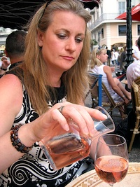 Rose wine Paris cafe