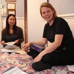 Kari and Vivien London 2005