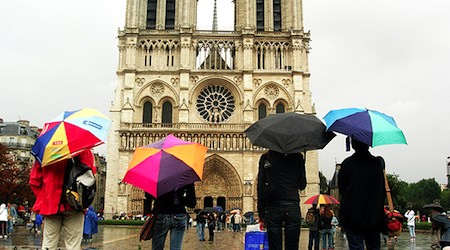 Notre Dame in the rain