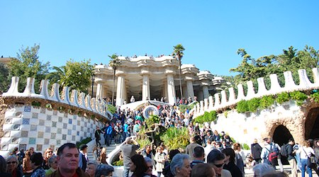 Barcelona's Park Guell is a celebration of all things Gaudi. Photo: George M. Groutas