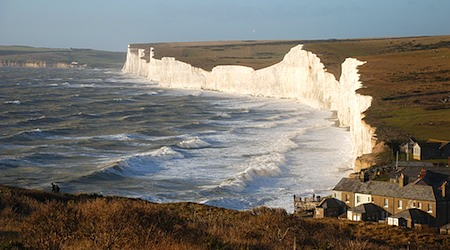 The Seven Sisters cliffs in the South Downs National Park. Photo: Howzy