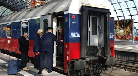 The Moskva Express, pictured in Berlin, might be extended to Paris. Photo © hidden europe magazine
