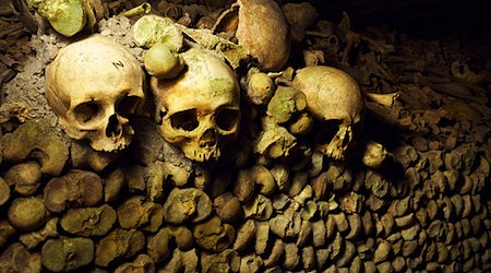 The Catacombs of Paris -- one creepy way to spend a couple of hours. Photo: Sean Graham