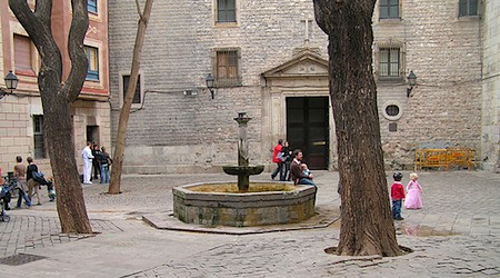 Barcelona's charming Placa Neri hides a tragic history. Photo: Manelzaera