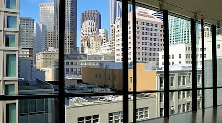 The view from the top floor of the San Francisco Museum of Modern Art. Photo: Donjd2