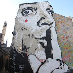 Paris Shhhh mural