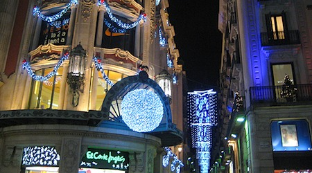 Christmas lights Barcelona