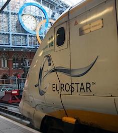Eurostar train St Pancras