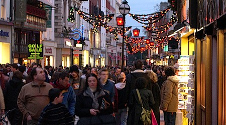 Dublin Christmas shopping