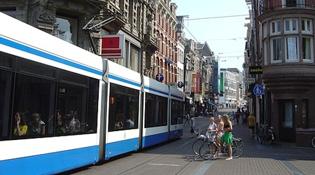 Buy a day ticket for the tram, or bike around Amsterdam to save time. Photo: Malingering
