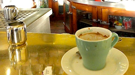 It's cheaper to drink your coffee at the counter in Paris. Photo: Tom Meyers