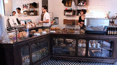 Fresh salads (and desserts) at Merce and the Muse in the Marais. Photo: Yelp.com