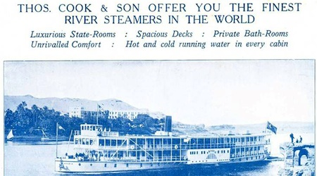 A 1922 advertisement for Thomas Cook's Nile cruise. Photo: Wikipedia