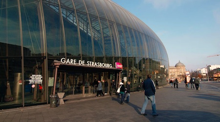 A stop in Strasbourg, on the way from Berlin to Cadiz. Photo © hidden europe.