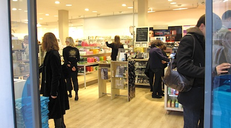 Shopping for toiletries and cosmetics at Beauty Monop'. All photos by T. Brack