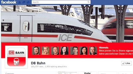"Why not ""like"" DB Bahn on Facebook?"