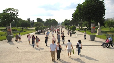 Strolling the Tuileries, a royal creation. All photos by Theadora Brack