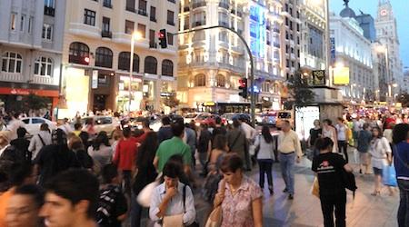 Look like a local as you stroll Madrid's Gran Via. Photo: Tom Meyers
